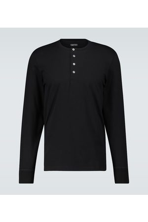 Tom Ford Z krótkim rękawem - Long-sleeved Henley T-shirt