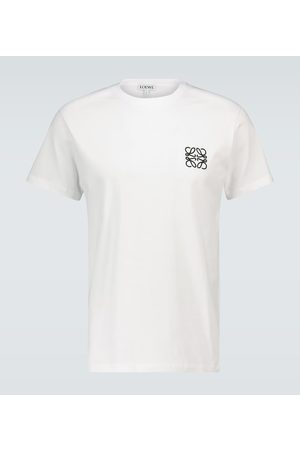Loewe Z krótkim rękawem - Anagram embroidered cotton T-shirt
