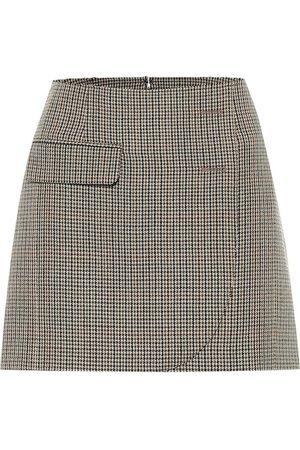 Vetements Houndstooth virgin wool miniskirt