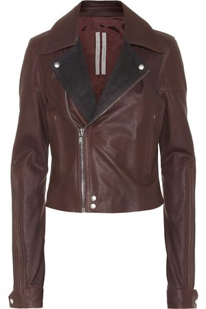 Rick Owens Dracu leather biker jacket