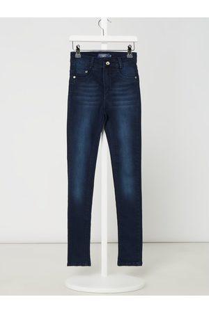 Blue Effect Jeansy z wysokim stanem o kroju slim fit z dodatkiem streczu