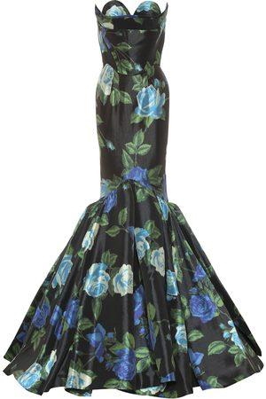 RICHARD QUINN Floral satin gown