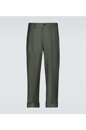 Nanushka Athan double-pleated cropped pants