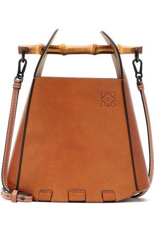 Loewe Bamboo-trimmed leather bucket bag