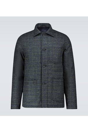 Officine Générale Houndstooth padded chore jacket