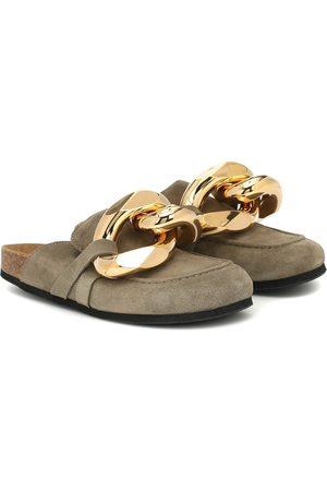 J.W.Anderson Kobieta Kapcie - Embellished suede slippers