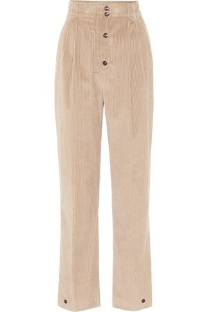 Etro High-rise corduroy straight pants