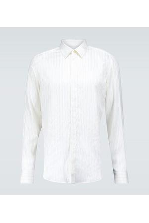 Lanvin Long-sleeved pinstriped silk shirt