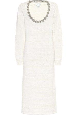 Bottega Veneta Cotton-blend midi dress