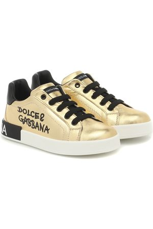 Dolce & Gabbana Dziewczynka Sneakersy - Leather sneakers