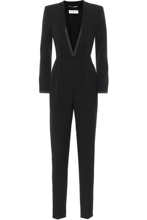Saint Laurent Virgin wool crêpe jumpsuit