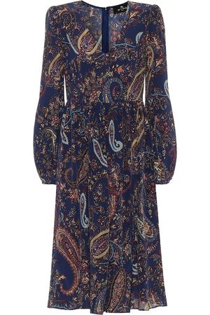 Etro Paisley silk twill midi dress