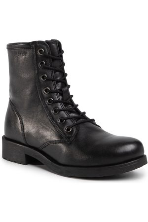 Geox Botki - D Rawelle A D046RA 000TU C9999 Black