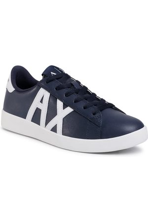 Armani Sneakersy - XUX016 XCC71 A138 Navy/Opt White