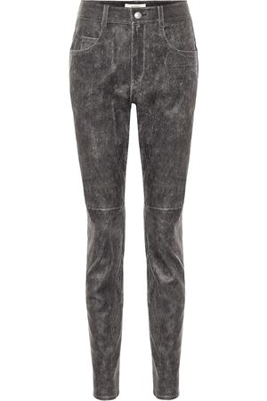 Isabel Marant Kobieta Rurki - Taro high-rise skinny leather pants