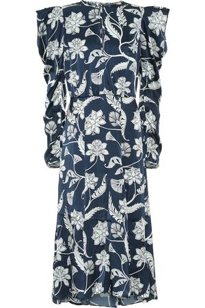 JOHANNA ORTIZ Wild Blue Wonder silk satin dress
