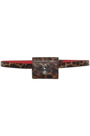 Christian Louboutin Elisa leopard-print leather belt bag