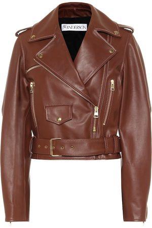 J.W.Anderson Cropped leather biker jacket