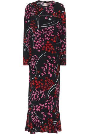 Marni Kobieta Sukienki z nadrukiem - Printed crêpe midi dress