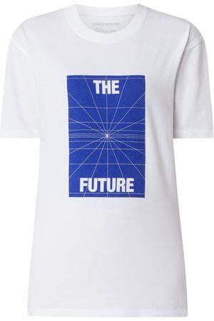 Drykorn T-shirt uniseks z nadrukowanym napisem model 'Samuel'