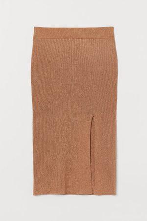 H&M Kobieta Spódnice - Spódnica o splocie w prążki