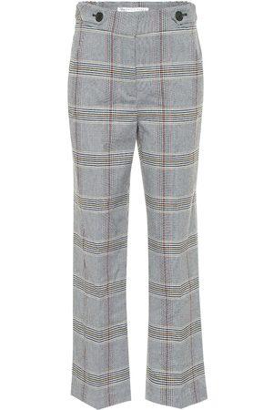 VERONICA BEARD Isley high-rise checked cotton-blend pants