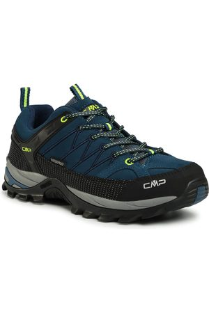 CMP Trekkingi - Rigel Low Trekking Shoes Wp 3Q13247 Blue Ink/Yellow Fluo 08MF