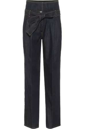 Stella McCartney High-rise straight paperbag jeans