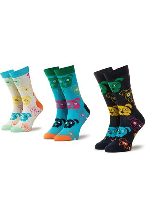 Happy Socks Skarpety - Zestaw 3 par wysokich skarpet unisex - XDOG08-0100