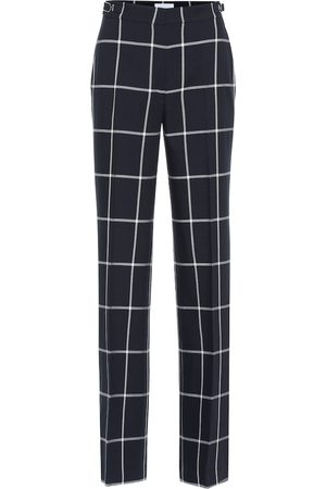 GABRIELA HEARST Leda checked high-rise flared wool pants