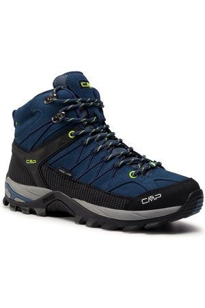 CMP Trekkingi - Rigel Mid Trekking Shoe Wp 3Q12947 Blue Ink/Yellow Fluo 08MF
