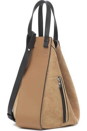 Loewe Hammock Large suede and leather shoulder bag