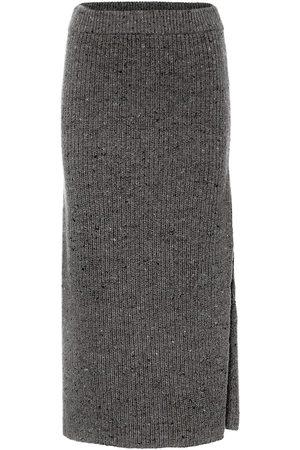 Altuzarra High-rise wool-blend skirt