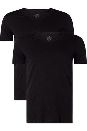 Ragman T-shirt o kroju body fit z bawełny pima w zestawie 2 szt.