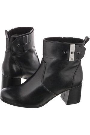 Caprice Kobieta Botki - Botki Czarne 9-25330-25 022 Black Nappa (CP236-a)
