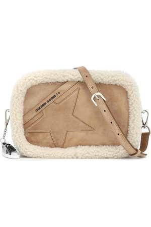 Golden Goose Star shearling-trimmed suede shoulder bag
