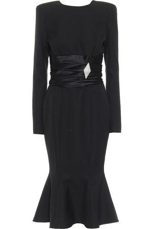 ALEXANDRE VAUTHIER Embellished wool-crêpe midi dress