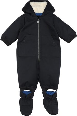 BONPOINT Baby Paco hooded down onesie