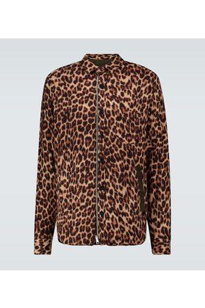 SACAI Leopard Shrivel wool shirt