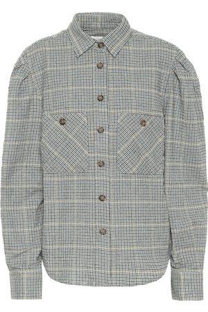 Isabel Marant Falco checked cotton-blend shirt