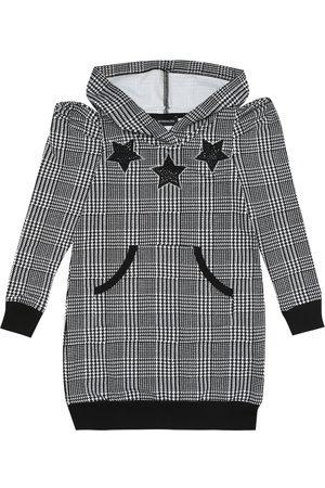 MONNALISA Gingham checked hoodie dress