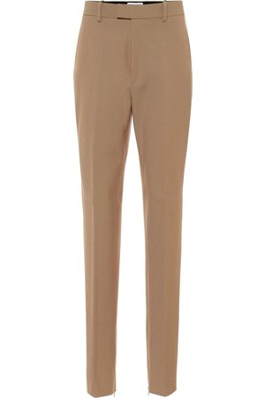 Bottega Veneta High-rise wool-blend slim pants