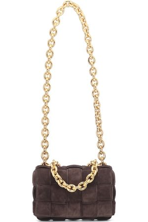 Bottega Veneta The Chain Cassette suede shoulder bag