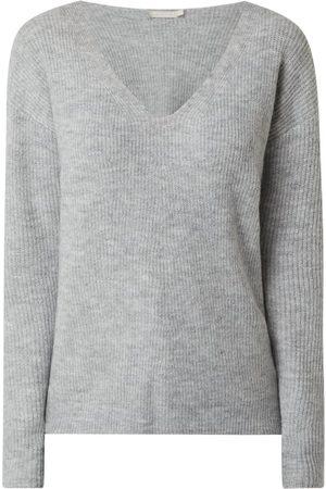 Pieces Sweter z dodatkiem wełny z alpaki model 'Babette'