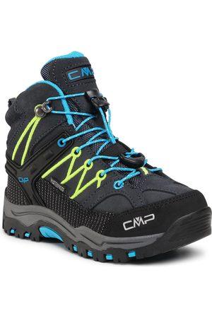 CMP Trekkingi - Kids Rigel Mid Trekking Shoe Wp 3Q12944 Antracite/Yellow Fluo 34UF