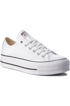 Converse Trampki - Ctas Lift Clean Ox 561680C White/Black/White