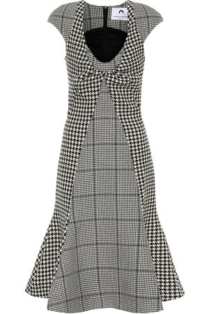 Marine Serre Kobieta Sukienki midi - Checked wool midi dress