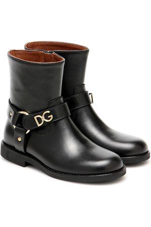Dolce & Gabbana Dziewczynka Botki - Embellished leather ankle boots