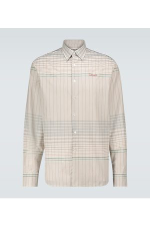 Lanvin Straight-fit checked shirt