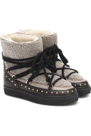 INUIKII Kobieta Botki - Shearling and leather boots